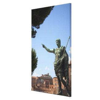 Statue of Roman emperor near the Roman Forum Canvas Print