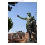 Statue of Roman emperor near the Roman Forum Greeting Cards