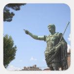 Statue of Roman emperor near the Roman Forum Square Stickers