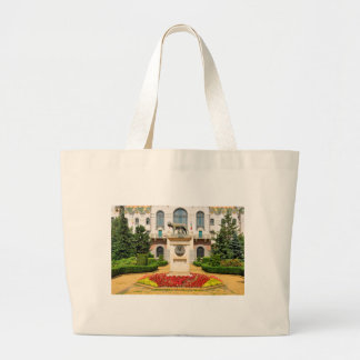 Statue of Romulus and Remus in Mures, Romania Large Tote Bag