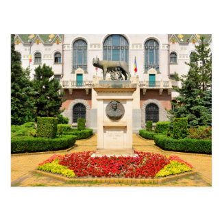 Statue of Romulus and Remus in Mures, Romania Postcard