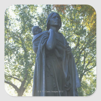 'Statue of Sacagawea and her son, guide on the Square Sticker