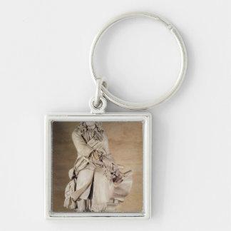 Statue of Sebastien Le Prestre de Vauban  1785 Silver-Colored Square Keychain