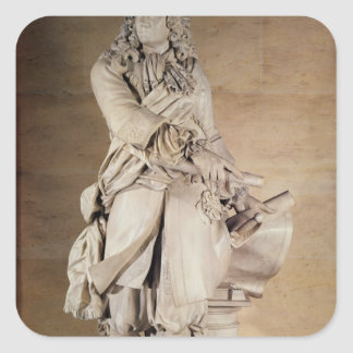 Statue of Sebastien Le Prestre de Vauban  1785 Square Sticker