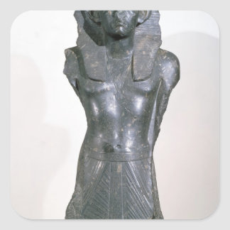 Statue of Sesostris III  in middle age Square Sticker