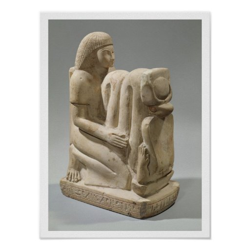 Statue of Setau presenting the cobra goddess Nekhb Poster
