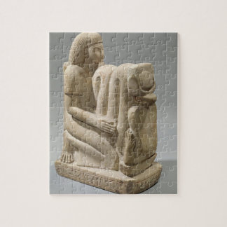 Statue of Setau presenting the cobra goddess Nekhb Jigsaw Puzzle