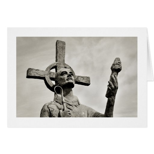 Statue of St Cuthbert - Lindisfarne Cards
