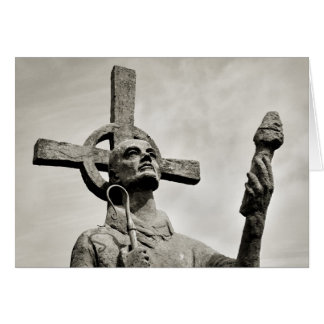 Statue of St Cuthbert - Lindisfarne Card