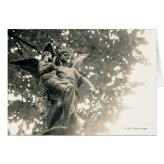 Statue of St Michael, Pere Lachaise Cemetery Card