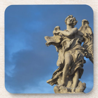 statue of the Angel with superscription on Sant Beverage Coaster