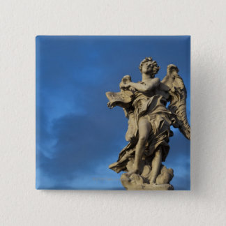 statue of the Angel with superscription on Sant Pinback Button