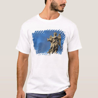 statue of the Angel with superscription on Sant T-Shirt