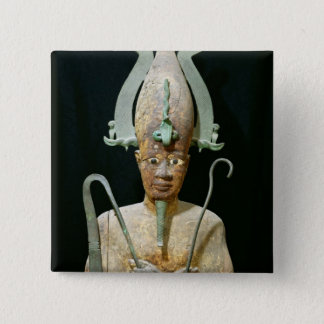 Statue of the Cult of Osiris Button