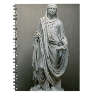 Statue of the Emperor Maxentius (306-312 AD) as Po Spiral Notebook