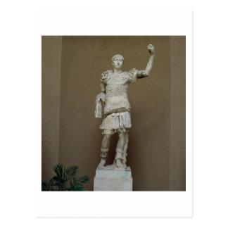 Statue of the Emperor Trajan (53-117 AD) (marble) Postcard