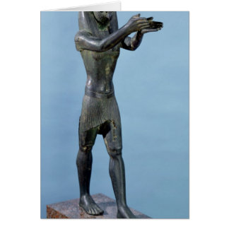 Statue of the God Horus Making a Drink Card
