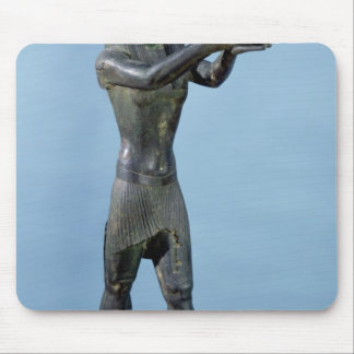Statue of the God Horus Making a Drink Mouse Pad