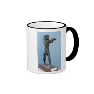 Statue of the God Horus Making a Drink Coffee Mug