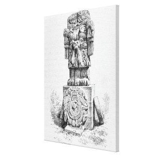 Statue of the Goddess Coatlicue Canvas Print