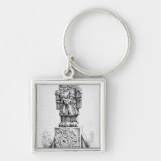 Statue of the Goddess Coatlicue Keychain
