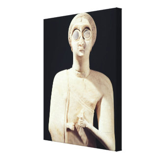 Statue of the Great Goddess, from Tell Asmar Canvas Print