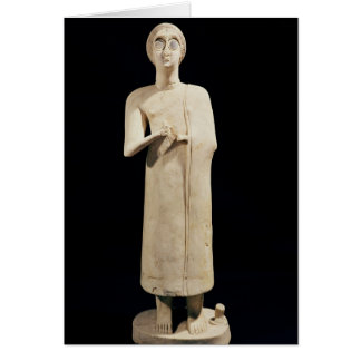 Statue of the Great Goddess, from Tell Asmar Greeting Cards