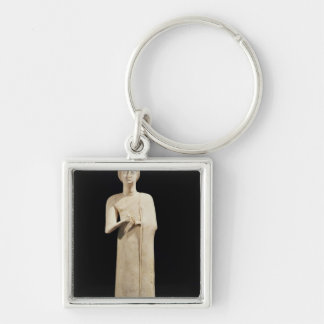 Statue of the Great Goddess, from Tell Asmar Keychain