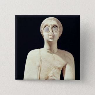 Statue of the Great Goddess, from Tell Asmar Pinback Button