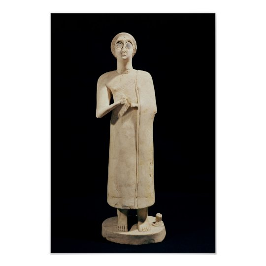 Statue of the Great Goddess, from Tell Asmar Poster
