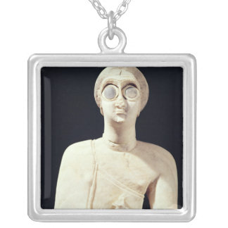 Statue of the Great Goddess, from Tell Asmar Silver Plated Necklace