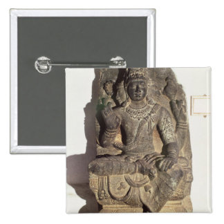 Statue of the Hindu God Brahma Button