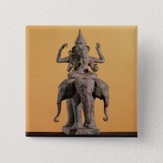 Statue of the Hindu God Ganesh Pinback Button