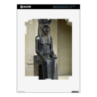 Statue of the lion-headed goddess Sekhmet, from th Decal For iPad 3