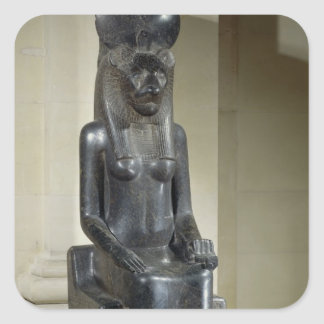 Statue of the lion-headed goddess Sekhmet, from th Square Sticker
