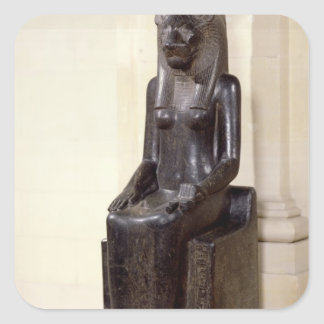 Statue of the lion-headed goddess Sekhmet Square Sticker