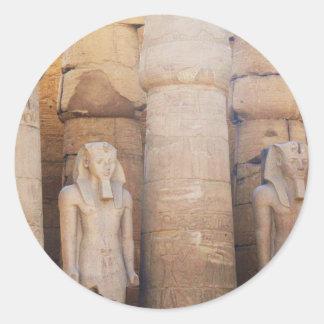 Statue of the Pharaoh Ramses II, Luxor Temple Classic Round Sticker