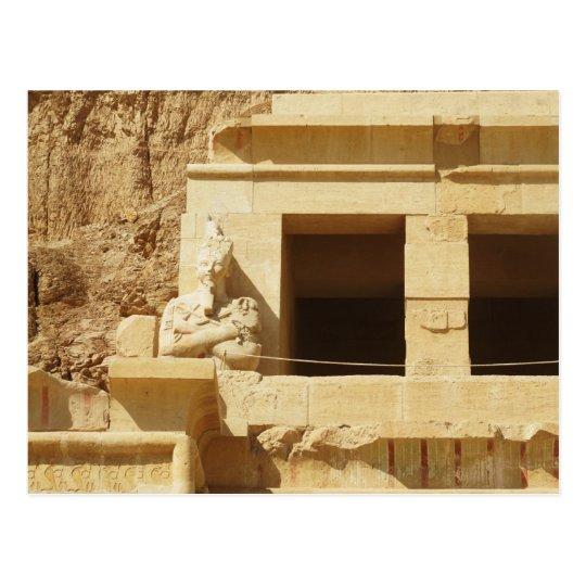 Statue of the queen Hatshepsut, Hatshepsut Temple, Postcard