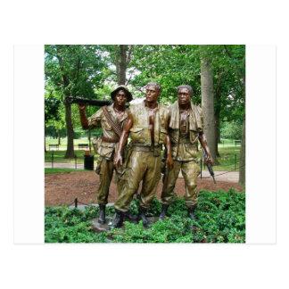 Statue of the Three Servicemen Postcard
