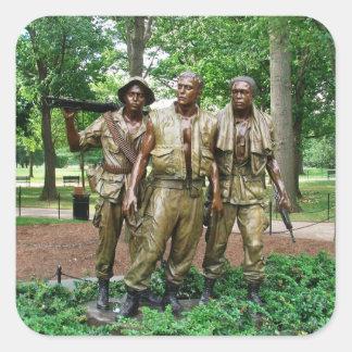 Statue of the Three Servicemen   Vietnam War Square Sticker