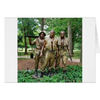 Statue of the Three Servicemen   Vietnam War Vets Card