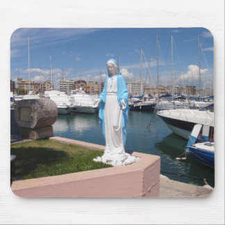 Statue Of the Virgin mary Mouse Pad