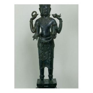 Statue of Vishnu in his triple form of Vishnu Postcard