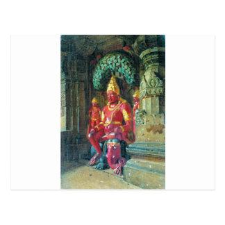 Statue of Vishnu in the temple of Indra in Ellora Postcard