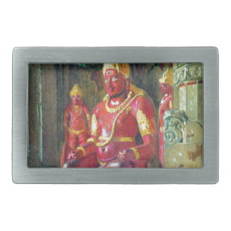 Statue of Vishnu in the temple of Indra in Ellora Rectangular Belt Buckle