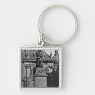 Statue of Voltaire Keychain