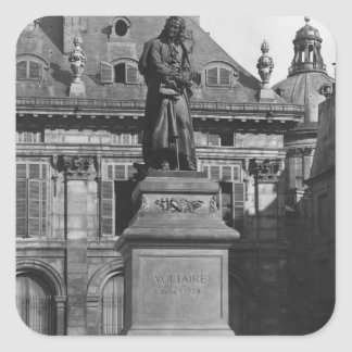 Statue of Voltaire Square Sticker