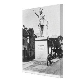 Statue of William Tell, c.1860-90 Canvas Print