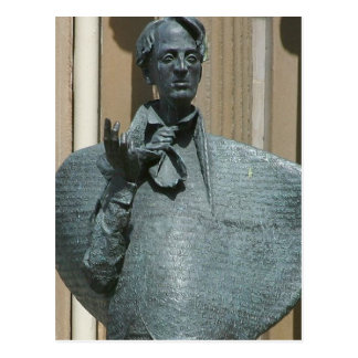 Statue Of Yeats In Sligo Postcard