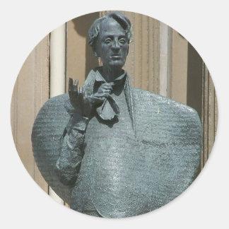 Statue Of Yeats In Sligo Stickers